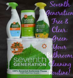 Looking for ways to green your bathroom? Let Seventh Generation help you in a chemical and toxin free way! #MC #Sponsored #FreeYourBaby