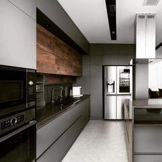 Modern Home Interior Design to Your Kitchen Design Modern Kitchen Interiors, Modern Home Interior Design, Luxury Kitchen Design, Kitchen Room Design, Contemporary Kitchen Design, Kitchen Cabinet Design, Kitchen Layout, Home Decor Kitchen, Home Kitchens