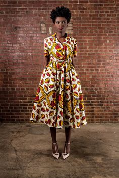 The Portia Dress African Print 100 Holland by DemestiksNewYork