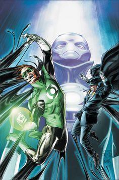 Green Lantern and Phantom Stranger by Doug Braithwaite & Bill Reinhold