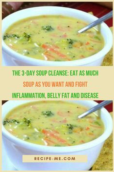 The Soup Cleanse: Eat as Much Soup as You Want And Fight Inflammation, Belly Fat And Disease fat burning soup diet fat burning soup recipes fat burning soup vegan fat burning soup chicken fat burning soup cabbage Healthy Soup Recipes, Diet Recipes, Cooking Recipes, Cleanse Recipes, Recipies, Healthy Detox, Healthy Eating, Clean Eating Soup, Easy Detox