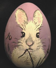 Easter Egg hand painted Bunny by EggshellART on Etsy, $20.00