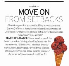 Don't let a setback take you out....get back on track!