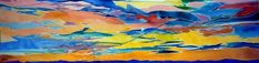 """SOLD and off to its new home in Nova Scotia! Great way to start off 2021... """"Looking Up #3: Declaration"""" #watercolour, 12x40"""" 🖌🎨 #art #artforyourhome #orignalart #watercolor #painting #skies #sky #canadianartist #artist #sold #BlassArt Watercolor Paintings, Watercolours, Watercolor Sky, Modern Art, Contemporary Art, Canadian Artists, Artist Art, Hanukkah, Storytelling"""