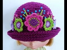 #Crochet Easy Ladies Spring time Hat #TUTORIAL HD #freecrochet - YouTube