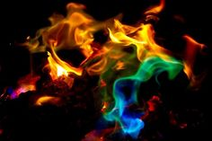 Rainbow Fire Flames | Mystical Fire - Campfire Colorful Flames (3)