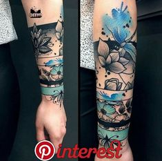 Not crazy about this design, but I really like the use of color -. - Not crazy about this design, but I really like the use of color – Diy Tattoo Project - Neue Tattoos, Bild Tattoos, Body Art Tattoos, Tatoos, Deer Skull Tattoos, Girl Arm Tattoos, Tattoo Drawings, Best Sleeve Tattoos, Sleeve Tattoos For Women