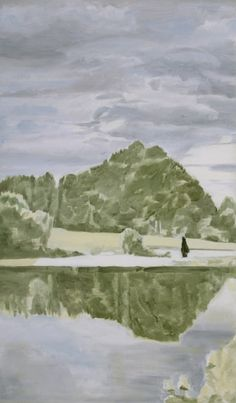 Luc Tuymans » Landscape 2000 Oil on canvas 59 x 34 1/4 inches (150 x 87 cm)