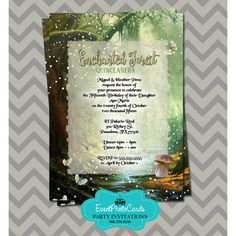 Resultado de imagen para enchanted forest theme for 15 invitations