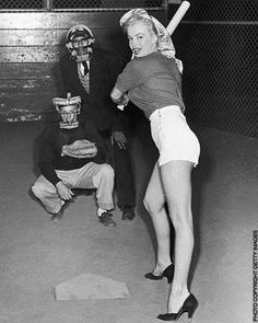 I don't know about running the bases in those heels...