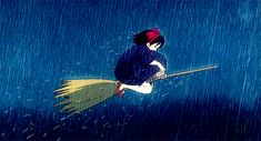 Kiki Delivery Service. Rain or shine she'll get you, your package.