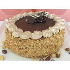 Chocolate Hazelnut Cake Delivery Cyprus - Chocolate sponge layers filled with hazelnut butter cream and chocolate fresh cream.