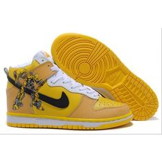 separation shoes 8d689 4d321 I found Custom Transformers Bumblebee Nike Dunks Hightops Sneaker on  Wish, check it out!