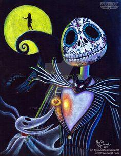 Nightmare Before Christmas - Ravenwolf Halloween Christmas, Halloween Art, Christmas Art, Halloween Decorations, Xmas, Halloween 2017, Halloween Treats, Jack Skellington, Disney Love