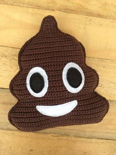 Gratis haak patroon Whatsapp Drol emoticon / crochet free pattern Whatsapp Poop emoticon