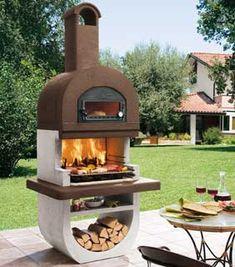 Barbacoa de piedra con horno