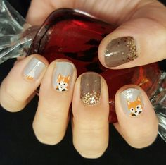 Faux Fox and Apple Cider Jamberry nail wraps