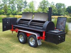 """10'x30"""" with grill griddle with optional gas warmer smoker cooker box."""
