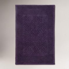 One of my favorite discoveries at WorldMarket.com: Mysterioso Purple Woven Bath Mat