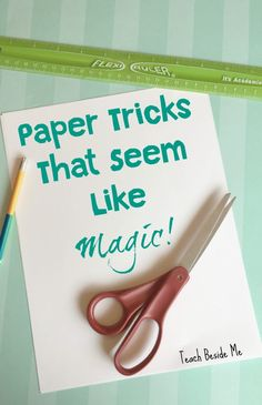 Kirigami, Magic Tricks For Kids, Magic Kids, Simple Magic Tricks, Card Tricks For Kids, Paper Magic Tricks, Science Magic Tricks, Art For Kids, Crafts For Kids