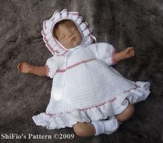 Country Baby Dress Crochet Pattern @ http://www.craftsy.com/pattern/crocheting/clothing/country-baby-dress-crochet-pattern-124/18933#