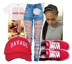 """""""Untitled #347"""" by gabb-slayy ❤ liked on Polyvore featuring Vans, Mishka and Topshop"""
