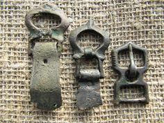 Artifact Ancient Viking Bronze Belt Buckles.