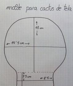 DIY fabric cactus pattern / Cómo Hacer un Cactus de Tela // La mamá de Álvaro