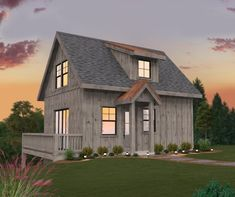 At just under 1000 square feet, this modern barnhouse is the perfect addition to an existing property as a guest house, studio, or even primary residence. Cottage House Plans, Country House Plans, Cottage Homes, Farm House, Barn House Plans, Small House Plans, Cabin Plans, Small Barns, Small Houses