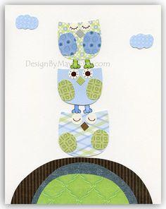 Baby boy Nursery wall art Decor Children Art print by DesignByMaya