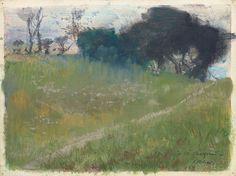 TREES IN ART • L'ARBRE DANS L'ART | Edgar Degas (French, 1834 - 1917), Landscape with...