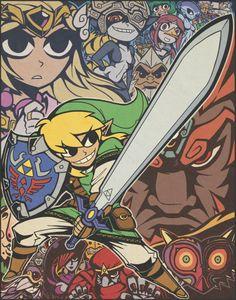 Zelda and Scott Pilgrim mashup via Reddit user brightertomorrow