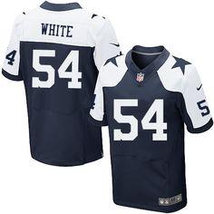 Nike Elite Randy White Navy Blue Men's Jersey - Dallas Cowboys #54 NFL Throwback Alternate