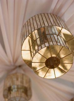 Mirrored art deco chandelier, Photo by Kate Headley.
