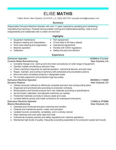 Forklift operator resume sample | Resumes and Cover Letters ...