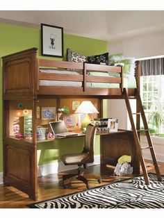 lofted bed... I want this