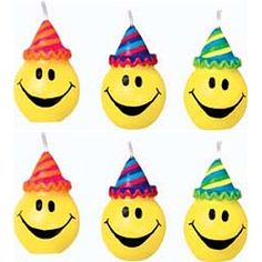 smileys with party hats