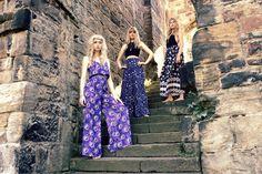 Lauren, Sarah & Gemma in their Cosmic Drifters handmade maxi pieces! A/W16