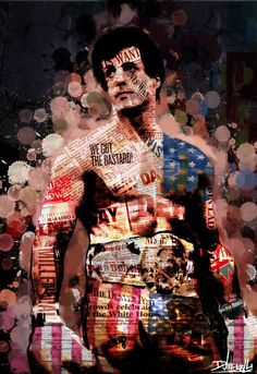Rocky Abstract Portrait Digital Art by Daniele Volpicelli Rocky Series, Rocky Film, Sylvester Stallone, Rocky Balboa Poster, Andre Luis, Stallone Rocky, Creed Movie, Cuadros Star Wars, Kino Film
