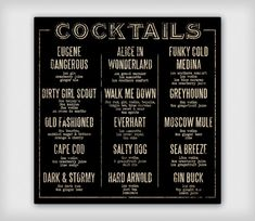 CUSTOM BAR ART - 20x20x1.5 - Free Personalization -  Ready-to-Hang  Stretched Canvas Wall Art Poster Sign Words Quote Text