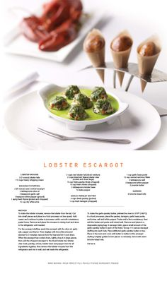 Celebrity Cruises Recipe from Qsine for Lobster Escargot!! #Lobster #Escargot recipe from #Qsine