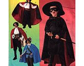 McCall's Sewing Pattern 3746 Boys Pirate or Magician Costume