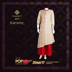 We're glad to introduce Kameez up next. Give your wardrobe a new makeover with their amazing collection only at #Serendipity #Take10 #ThePopUpShow #LifestyleExhibition #25Feb'17 #CourtyardMarriotGurgaon