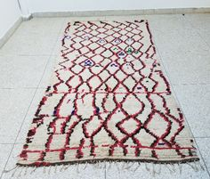 9`5 x 4`5 100% Authentic Azilal Moroccan rug Wool