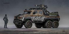 ArtStation - Titanfall 2 Samson Truck, Danny Gardner