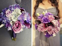 Purple + Gray Wedding Bouquet