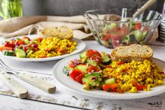 Omletă vegană cu tofu - Tofletă - Home is where you cook Tofu, Cobb Salad, Cooking, Recipes, Kitchen, Recipies, Ripped Recipes, Brewing, Cuisine