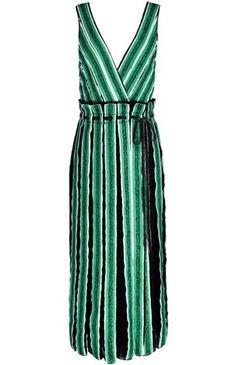 Proenza Schouler sleeveless silk wrap dress