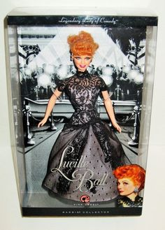 Lucille Ball Barbie Doll 2008 Pink Label # I Love Lucy Black Dress Mattel Barbie Dolls For Sale, Barbie And Ken, Mattel Dolls, I Love Lucy, My Love, Lucille Ball, Lady, Pink, Eyelashes