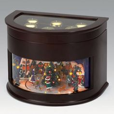 symphony of bells animated music box by mr christmas 77682 animated christmas music box - Lighted Christmas Decorations Indoor